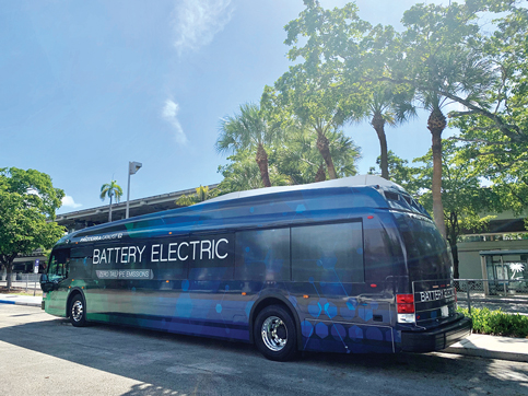 Part of new electric bus fleet reserved for SR 836