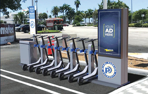Ad-funded scooter charging stations on way