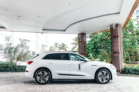 Audi and 1 Hotels team up for free use of electric cars