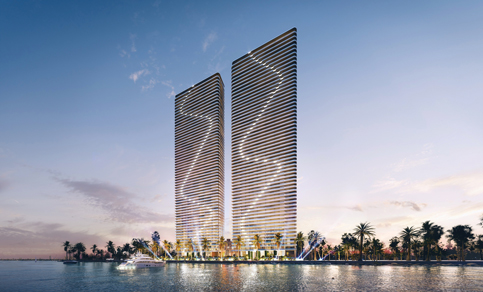 Twin 60-story Edgewater towers on Biscayne Bay win OK